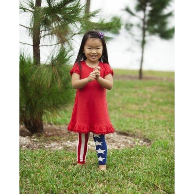 Footless Tights-American Flag