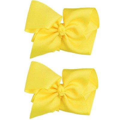 Extra Large Hair Bow-Yellow