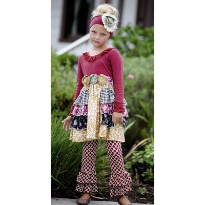 Giggle Moon Gracie Dress w/ Ruffle Leggings