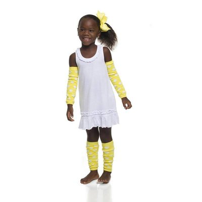 Yellow Polka Dot Leg Warmers