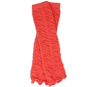 Coral Rouched Leg Warmers