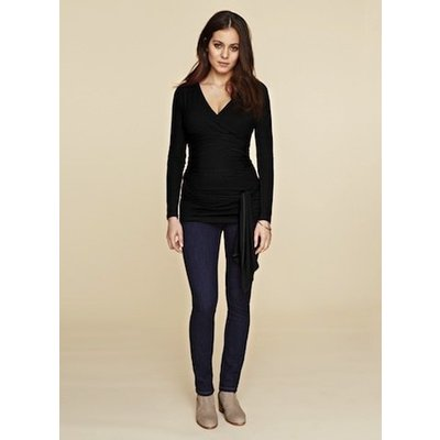 Isabella Oliver Ruched Wrap Top