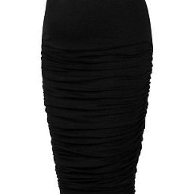 Midi Ruched Skirt