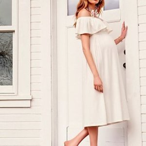Ingrid & Isabel Off The Shoulder Midi Dress