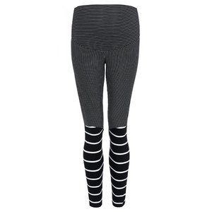 Avishag Arbel Maternty Black AND White STRIPED LEGGINGS