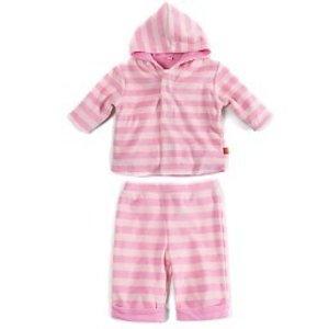 Pink Tonal Velour Magnetic Hoodie Set