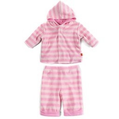 Magnificent Baby Pink Tonal Velour Magnetic Hoodie Set