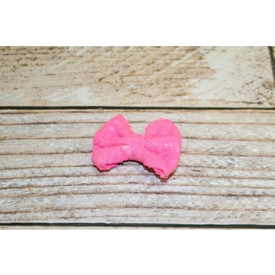 "Lincoln&Lexi 3"" Solid Sequin Bow Clip"