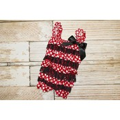 Minnie Mouse Lace Romper (Red)