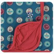 Kickee Pants Print Stroller Blanket (Soda Pop Caps - One Size)