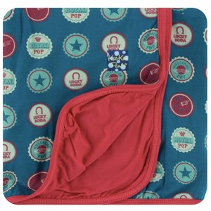 Kickee Pants Print Stroller Blanket (Soda Pop Caps - One Size)