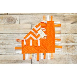 "Lincoln&Lexi Chevron Fun-Orange 16""x16"" Ribbon"