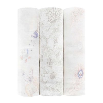 aden+anais featherlight 3-pack silky soft swaddles