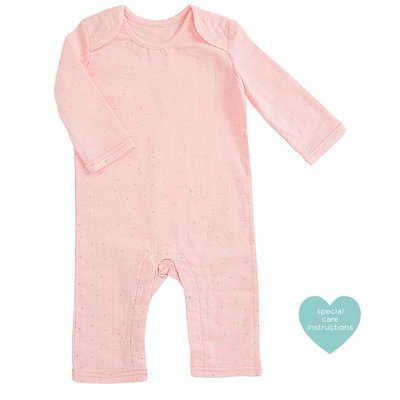 aden+anais metallic primrose confetti dot long sleeve coverall