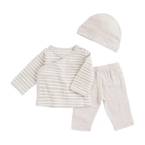 aden+anais toast stripe newborn set