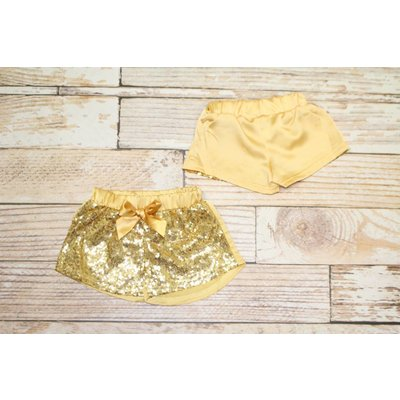 Gold Sparkle Glitter Shorts