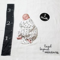 lulujo Baby's First Year blanket/cards -Loved Beyond Measure
