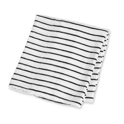 lulujo Lulujo Black Messy Stripe Bamboo Swaddle – 47×47″