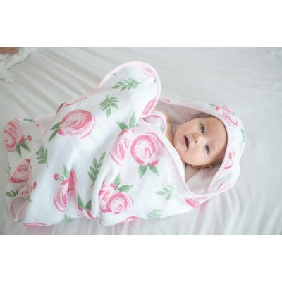 Copper Pearl Muslin Hooded Towel - Grace