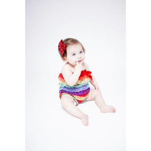 Stripe Lace Romper (Rainbow)