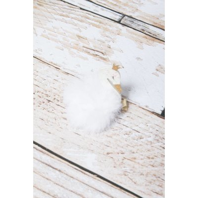 Swan Puff Beauty Clip