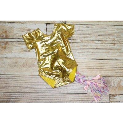 Unicorn Leotard - Gold