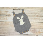 Lincoln&Lexi Little Bunny Cotton Tail - Grey