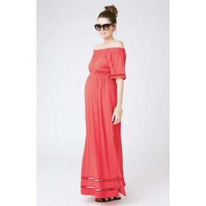 Ripe Maternity Cold Shoulder Maxi  Dress