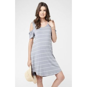 Ripe Maternity Cut Out Shoulder Dress