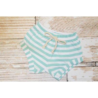 Lincoln&Lexi Striped Shorts (Aqua)
