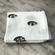 Three Little Anchors University of Iowa Hawkeye 100% Organic Swaddle Blanket