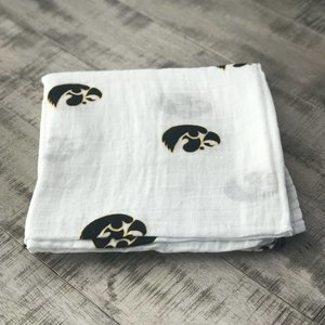 Three Little Anchors University of Iowa Hawkeye 100% Organic Swaddle Blanket