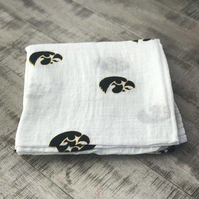 Three Little Anchors Hawkeye 100% Organic Swaddle Blanket