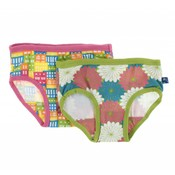 Kickee Pants Girl Underwear Set (Natural Houses and Tropical Flowers)