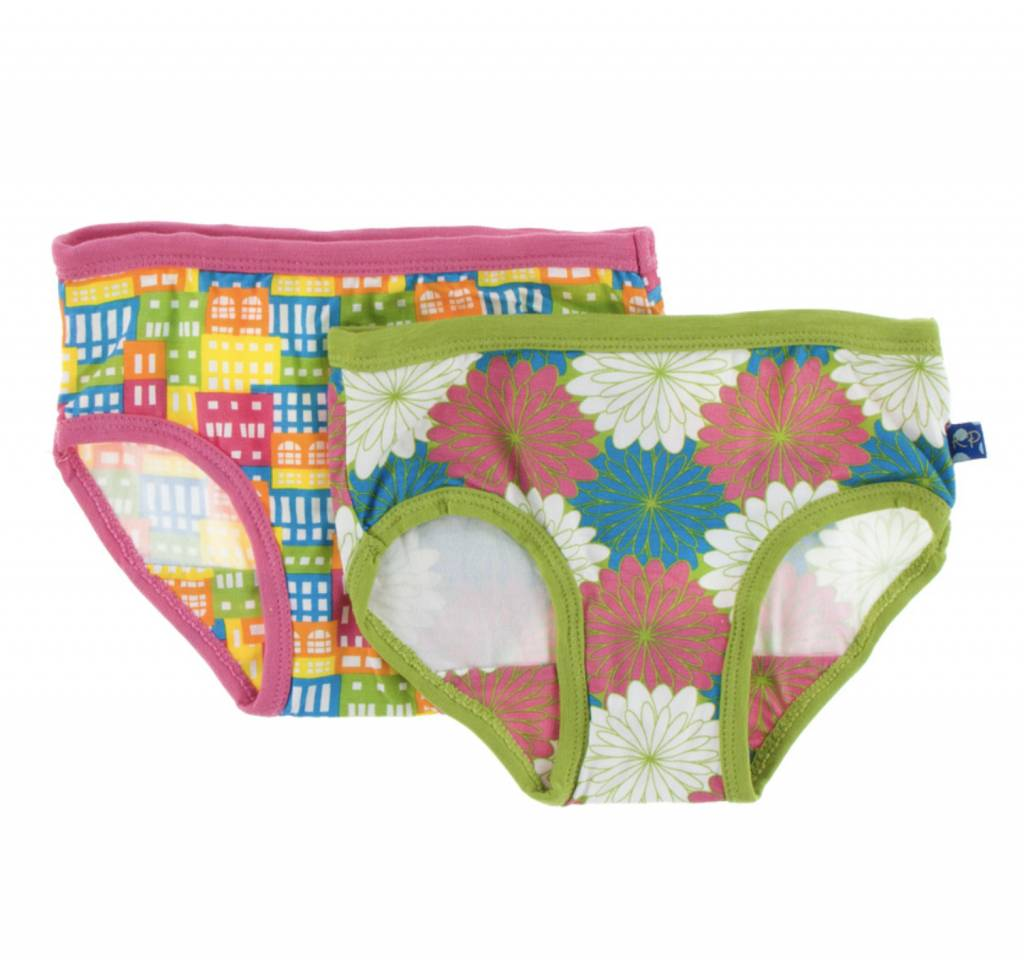 d9fd3c621c Girl Underwear Set (Natural Houses and Tropical Flowers) - Lincoln Lexi