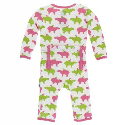 Kickee Pants Print Coverall with Zipper (Natural Capybara )