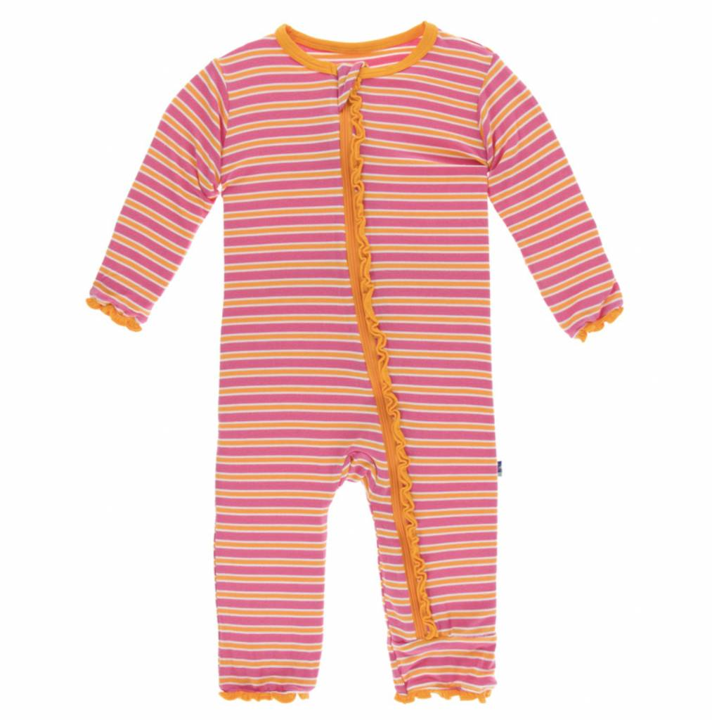 ec40f9227 Print Muffin Ruffle Coverall with Zipper (Flamingo Brazil Stripe ...
