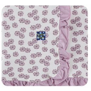 Kickee Pants Print Ruffle Stroller Blanket (Natural Lantana - One Size)