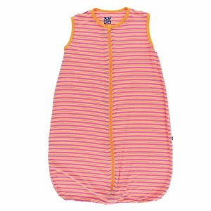 Kickee Pants Print Lightweight Sleeping Bag (Flamingo Brazil Stripe)