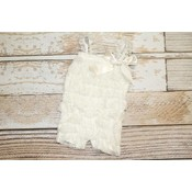 Solid Lace Romper (Ivory)