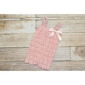 Solid Lace Romper (Light Pink)