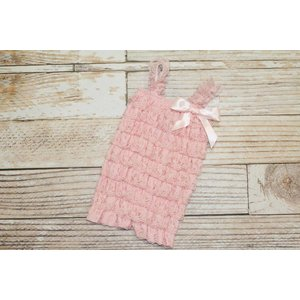 Lincoln&Lexi Solid Lace Romper (Light Pink)