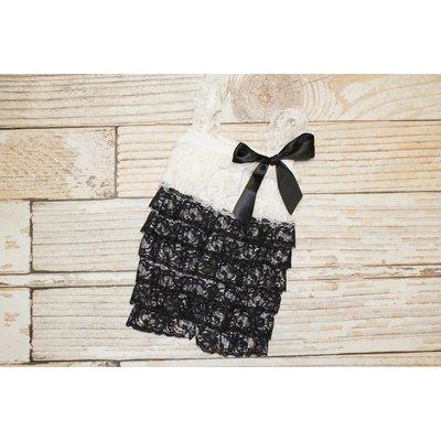 Lace Romper (Black & White)