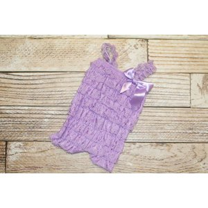 Solid Lace Romper (Lavender)