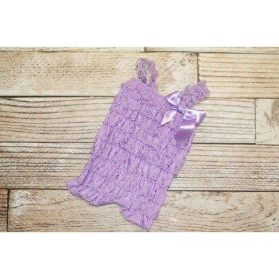 Lincoln&Lexi Solid Lace Romper (Lavender)