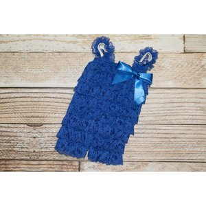 Solid Lace Romper (Royal)