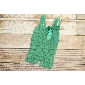 Solid Lace Romper (Green)