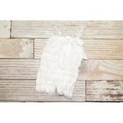 Solid Lace Romper (White)