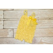 Solid Lace Romper (Yellow)
