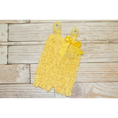 Lincoln&Lexi Solid Lace Romper (Yellow)